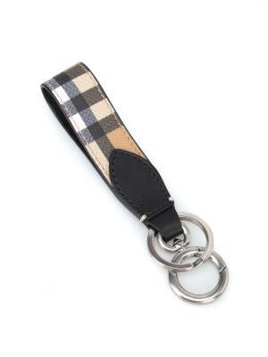 BURBERRY: portachiavi online - Portachiavi in pelle Vintage check