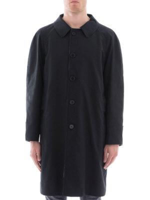 BURBERRY: cappotti al ginocchio online - Cappotto reversibile nero e check