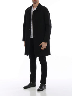 BURBERRY: cappotti al ginocchio online - Soprabito Camden in gabardina nera