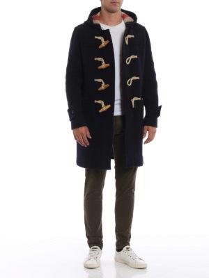 BURBERRY: cappotti al ginocchio online - Montgomery Greenwich in panno blu