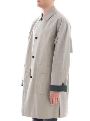BURBERRY: cappotti al ginocchio online - Cappotto in cotone cerato