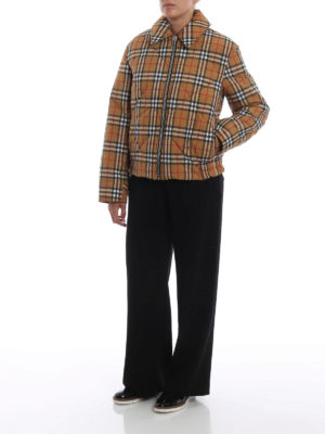 BURBERRY: giacche imbottite online - Giacca Knowstone in tessuto vintage Check