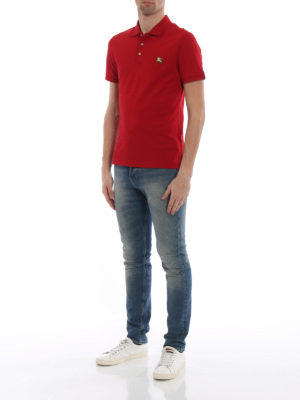 BURBERRY: polo online - Polo Talsworth cotone piqué rosso