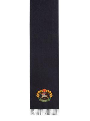 BURBERRY: sciarpe e foulard online - Sciarpa in cashmere con stemma