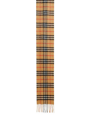 BURBERRY: sciarpe e foulard online - Sciarpa lunga in cashmere Check
