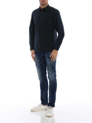 BURBERRY: camicie online - Camicia blu Alexander a quadri