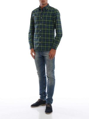BURBERRY: camicie online - Camicia Alexander in cotone check