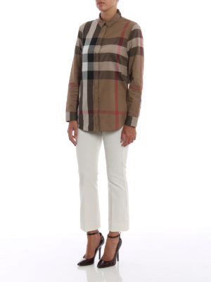 BURBERRY: camicie online - Camicia in mussola di cotone check
