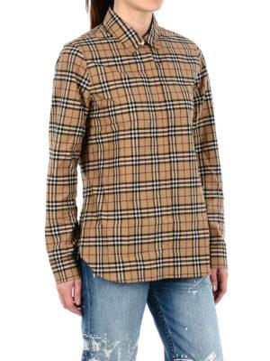 BURBERRY: camicie online - Camicia dritta in cotone check