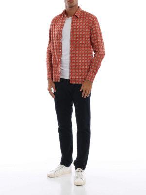 BURBERRY: camicie online - Camicia Strental rossa con motivo check