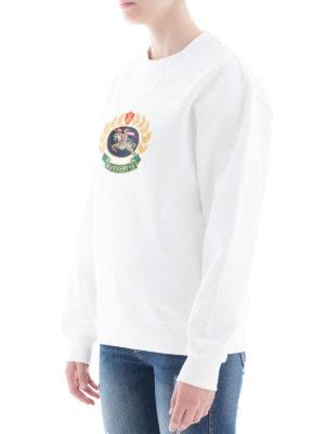BURBERRY: Felpe e maglie online - Felpa con ricamo stemma archivio