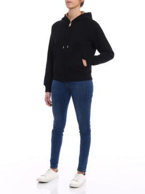 BURBERRY: Felpe e maglie online - Felpa nera foderata davanti