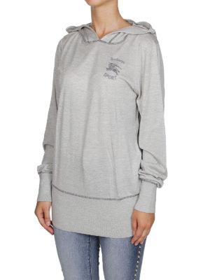 BURBERRY: Felpe e maglie online - Felpa leggera in seta e cashmere melange
