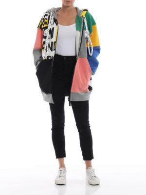BURBERRY: Felpe e maglie online - Felpa patchwork Pavina con cappuccio e zip