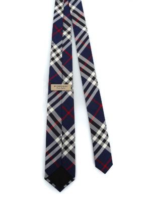BURBERRY: cravatte e papillion online - Cravatta Manston in seta Vintage check blu
