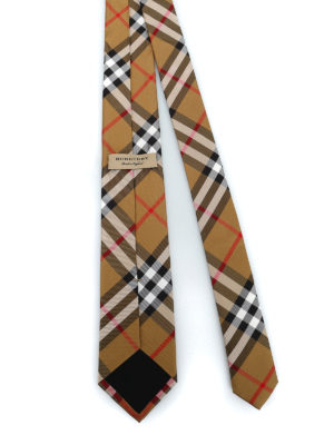 BURBERRY: cravatte e papillion online - Cravatta Manston in seta Vintage check