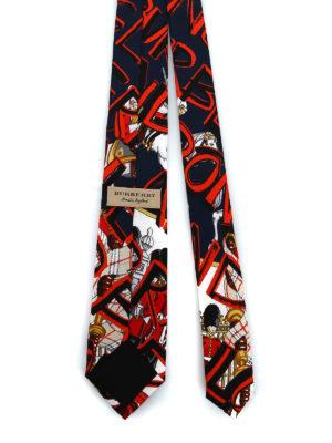 BURBERRY: cravatte e papillion online - Cravatta Stanfield con motivo London graffiti