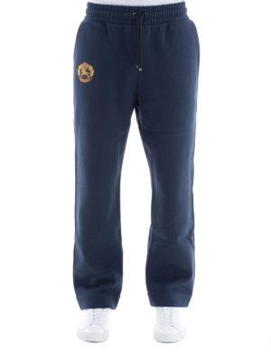 BURBERRY: pantaloni sport online - Tuta con stemma archivio ricamato