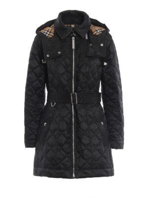 BURBERRY: cappotti imbottiti - Piumino nero Baughton con cappuccio