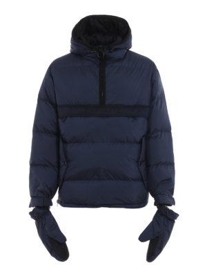 BURBERRY: giacche imbottite - Piumino Halstead blu con muffole removibili