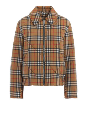 BURBERRY: giacche imbottite - Giacca Knowstone in tessuto vintage Check