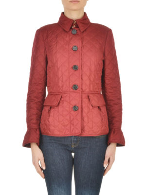 Burberry: padded jackets online - Clovely diamond quilted jacket