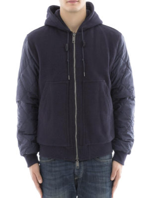 Burberry: padded jackets online - Reversible nylon and cotton hoodie