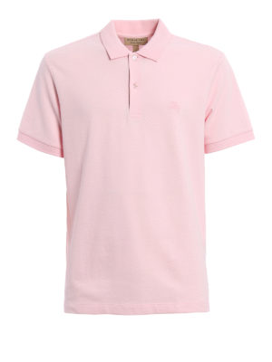 Burberry: polo shirts - Check placket detail polo