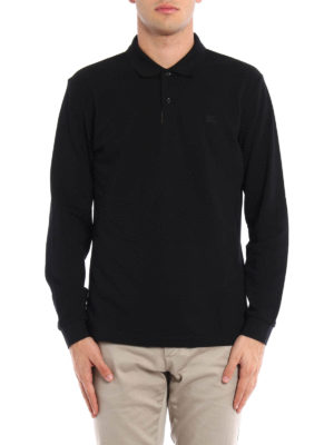 Burberry: polo shirts online - Long sleeved polo