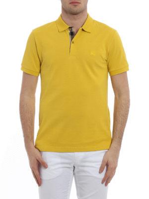 Burberry: polo shirts online - Oxford cotton pique polo shirt