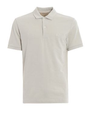 Burberry: polo shirts - Oxford beige cotton polo shirt