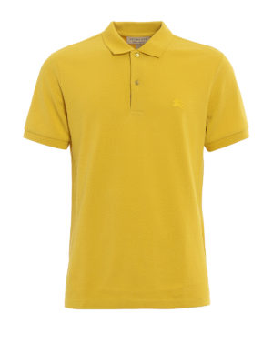 Burberry: polo shirts - Oxford cotton pique polo shirt