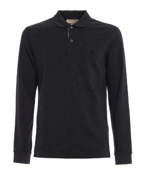 Burberry: polo shirts - Oxford long sleeved polo shirt