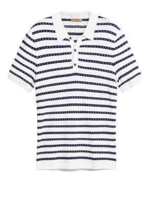 BURBERRY: polo - Polo in maglia di cotone a righe