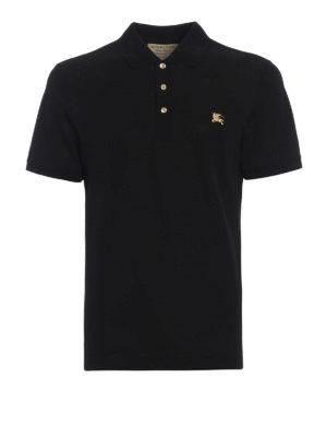 Burberry: polo shirts - Talsworth black cotton polo shirt