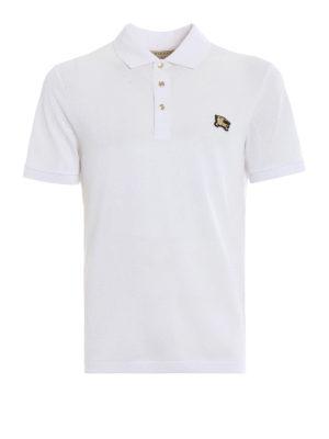 Burberry: polo shirts - Talsworth white cotton polo shirt