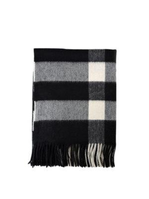 Burberry: scarves - Black tartan cashmere Bandana