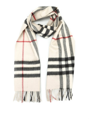 Burberry: scarves - Cashmere Check scarf
