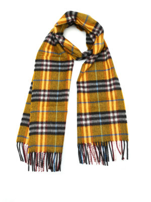 Burberry: scarves - Castleford Check cashmere scarf