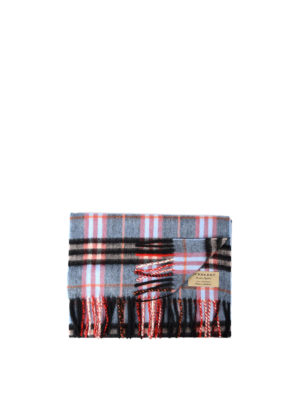 Burberry: scarves - Castleford tartan cashmere scarf