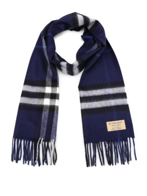 Burberry: scarves - Classic Check cashmere scarf