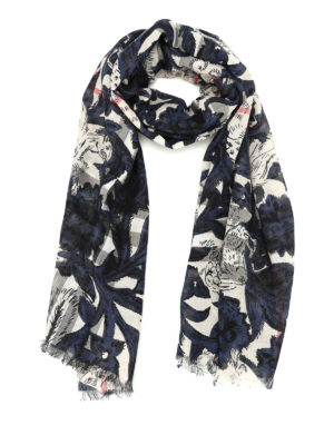 Burberry: scarves - Floral Beasts Giant Check scarf