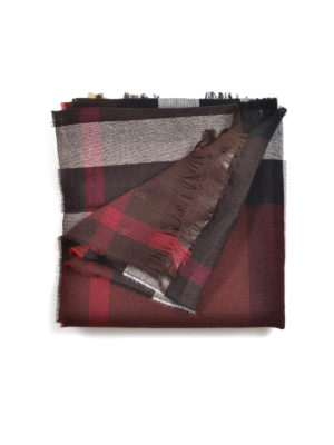 Burberry: scarves - Giant check cashmere blend scarf