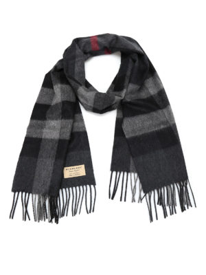 Burberry: scarves - Half Mega Check cashmere scarf
