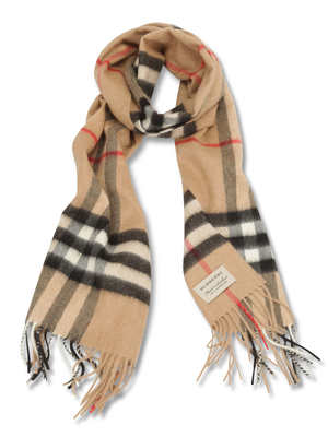 Burberry: scarves - Heritage Check Cashmere Scarf