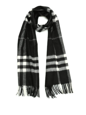 Burberry: scarves - House Check cashmere scarf