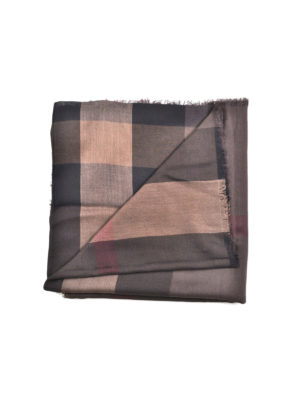 Burberry: scarves - Lightweight silk blend check scarf