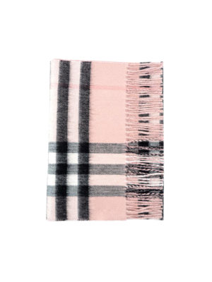 Burberry: scarves - Lurex detailed Check cashmere scarf