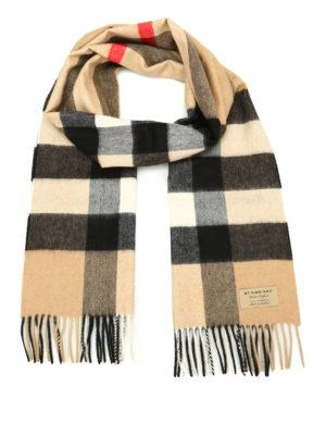 Burberry: scarves - Mega Check cashmere scarf