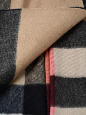 Burberry: scarves online - Beige tartan cashmere Bandana